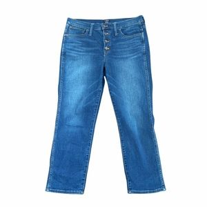 J.Crew Vintage High Rise Straight Jeans Button Fly